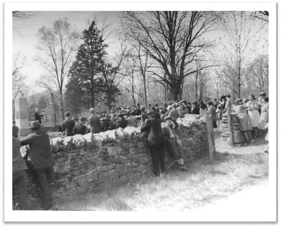 Stone Wall at Mount Hebron Cemetery (1937)