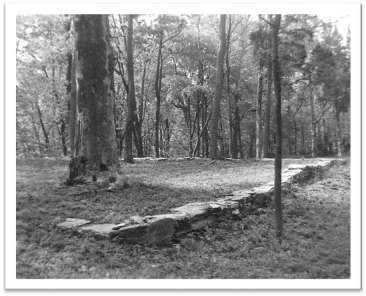 Stone Foundation of Mount Hebron Church (1975)