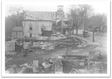 Salem Church After the Fire 1943